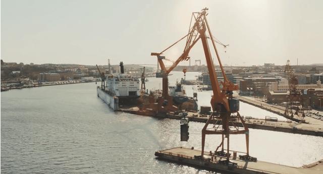 Port de Göteborg, Suède
