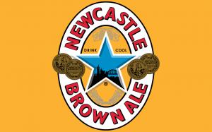 Logotype de la bière brune.