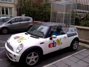 Mini Ebay : voiture-vitrine