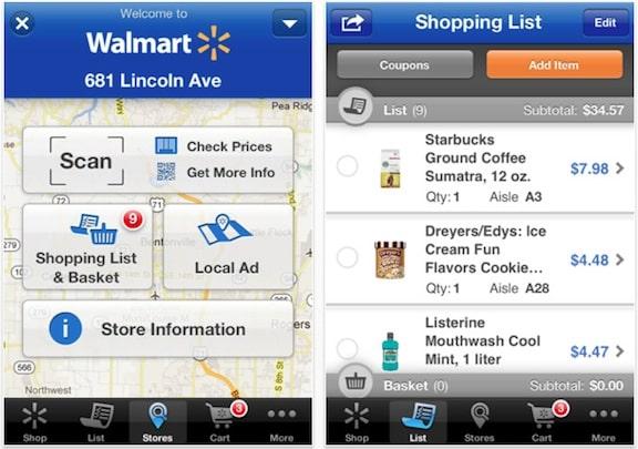 L'application Walmart offre un mode in-store intéressant