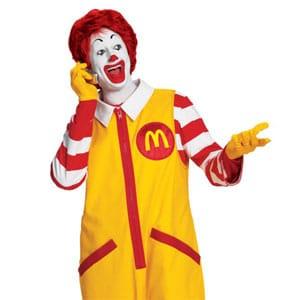 La mascotte R. McDonald's.