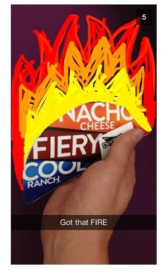 Application Snapchat Tacobell