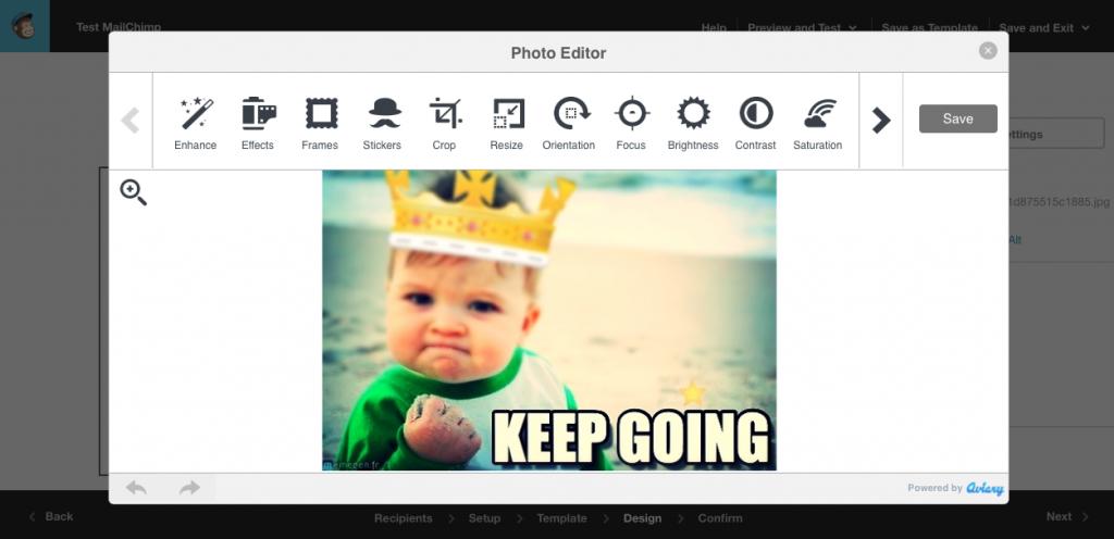 Modifier votre photo dans l'éditeur