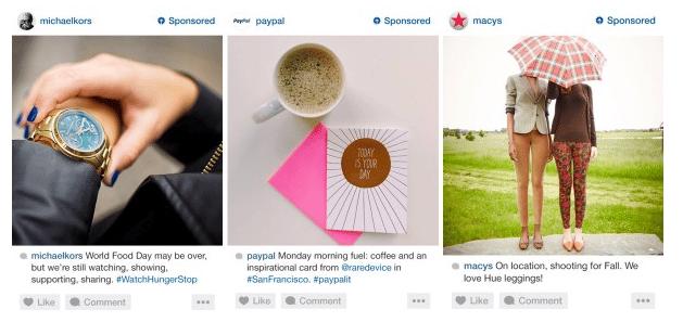 exemple de publicités instagram