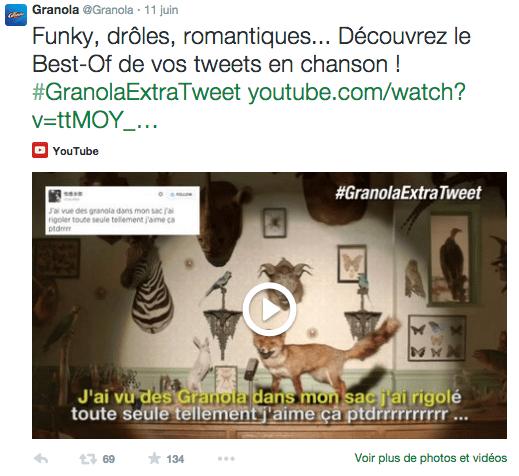 Granola sur Twitter