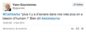 Tweet Adobe symp