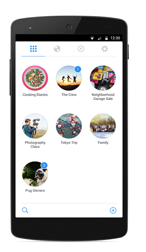 facebook groups application accueil