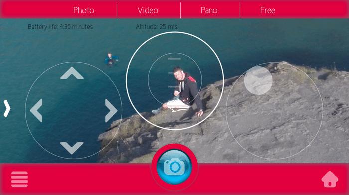 zano drone application interface
