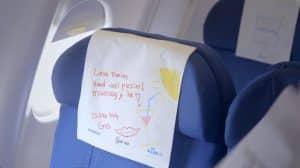 KLM messages à bord