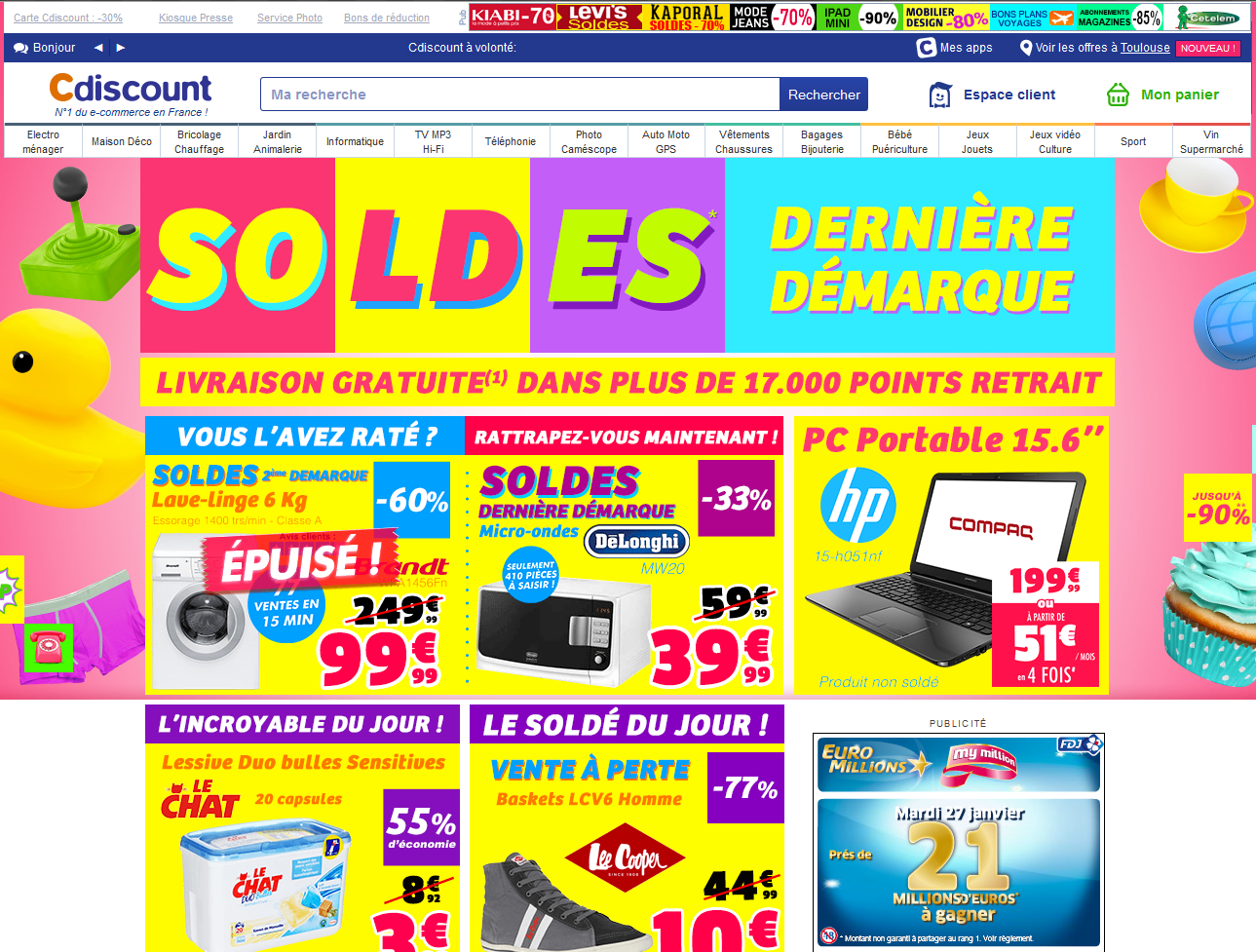 cdiscount hp webdesign
