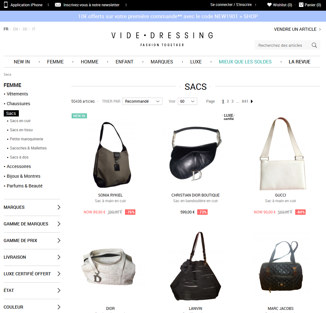 videdressing webdesign