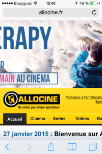 Site allocine non compatible mobile