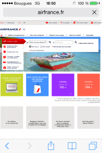 Home page airfrance.fr
