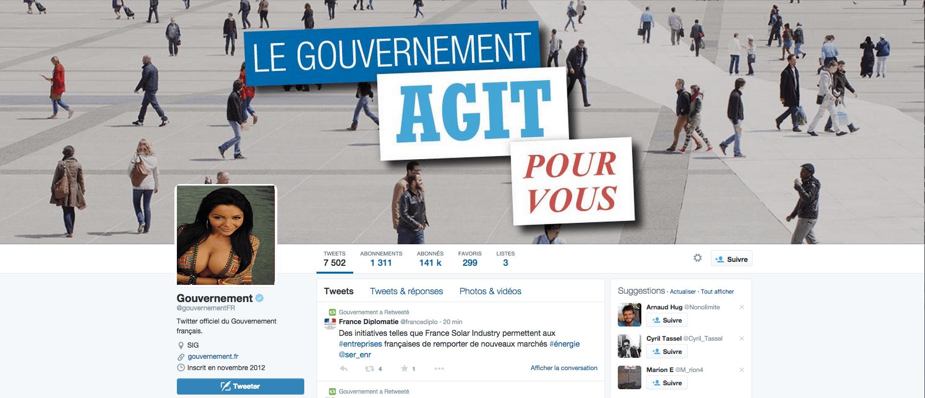 Twitter du Gouvernement Français