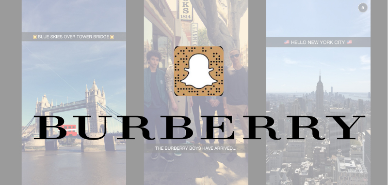 luxe burberry snapchat