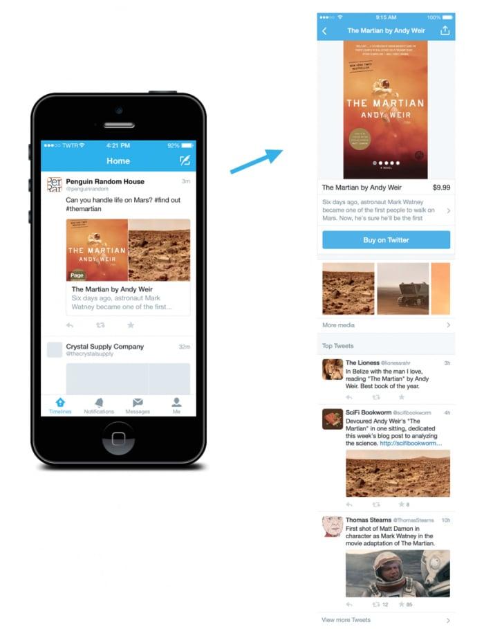 exemple de page produit twitter