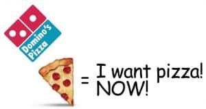 Utilisation des emojis par domino's pizza
