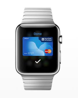 Apple Pay sur l'Apple Watch