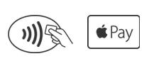 Badge mentionnant la fonction Apple Pay
