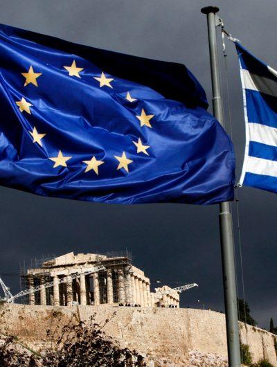 Drapeau Europe et Grec