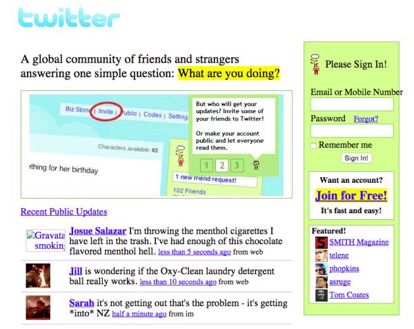 twitter novembre 2006