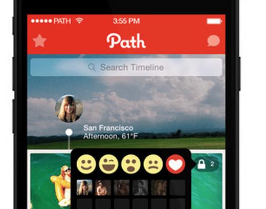 bouton empathie Facebook sur Path