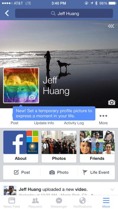 photos de profil temporaire facebook