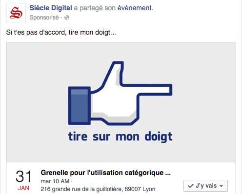 facebook ads réponses évènement