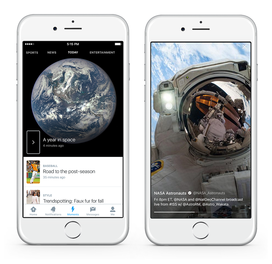 twitter moments snapchat