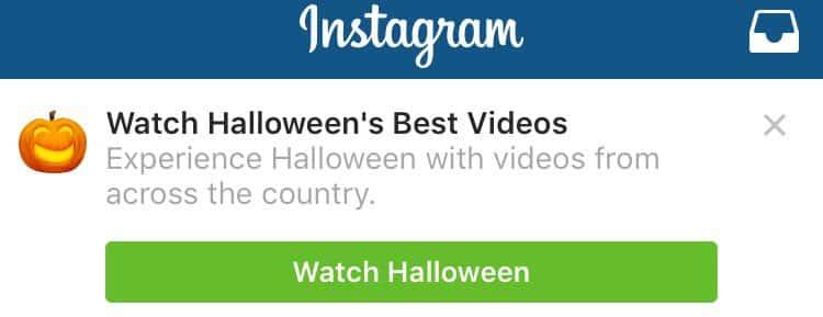 instagram story halloween