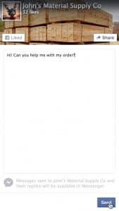 Facebook messenger badge page Facebook