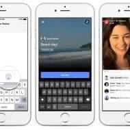 Facebook video live partage
