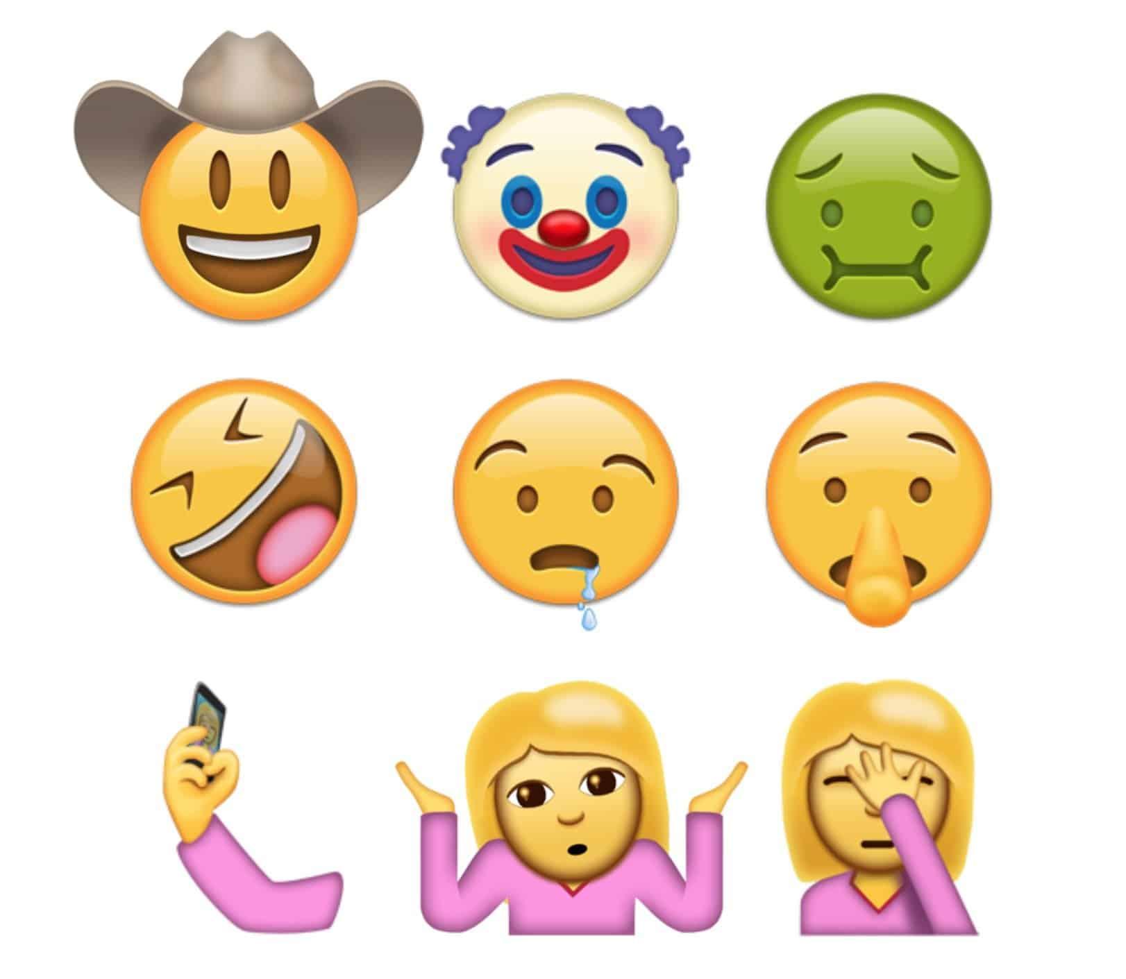 10 - emojis 2016