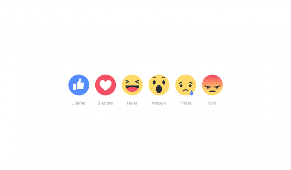 Facebook reactions bouton