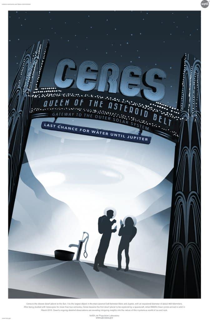 Affiche Nasa Ceres