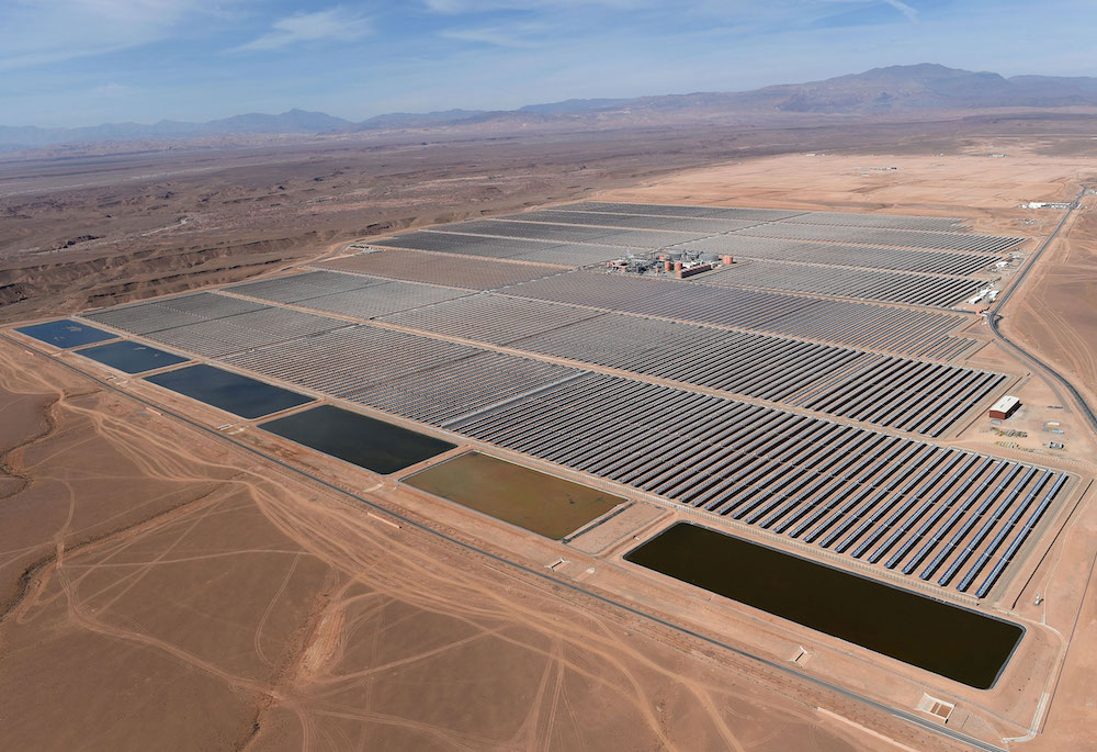 Centrale solaire Noor 1 Maroc