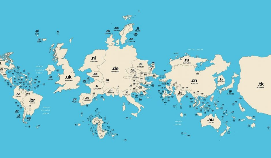 noms de domaine carte