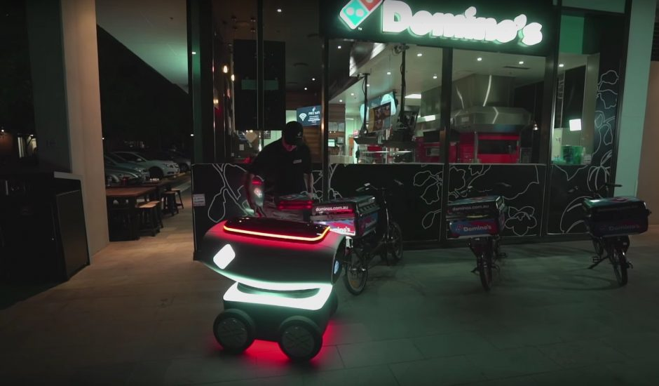 domino's pizza dru robot livraison