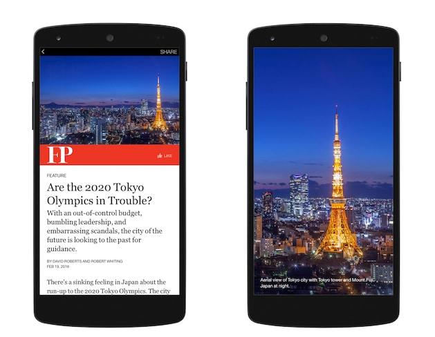 Le plugin reconnait l'image principale de l'article, et intègre les bonnes marges pour que l'utilisateur de Facebook puisse ouvrir l'image en plein écran dans Instant Articles peu importe le device qu'il utilise.