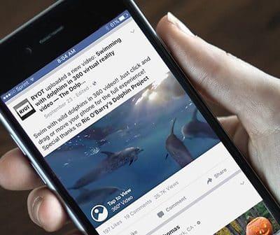 Facebook 360 Video avec l'immersion dans la nature