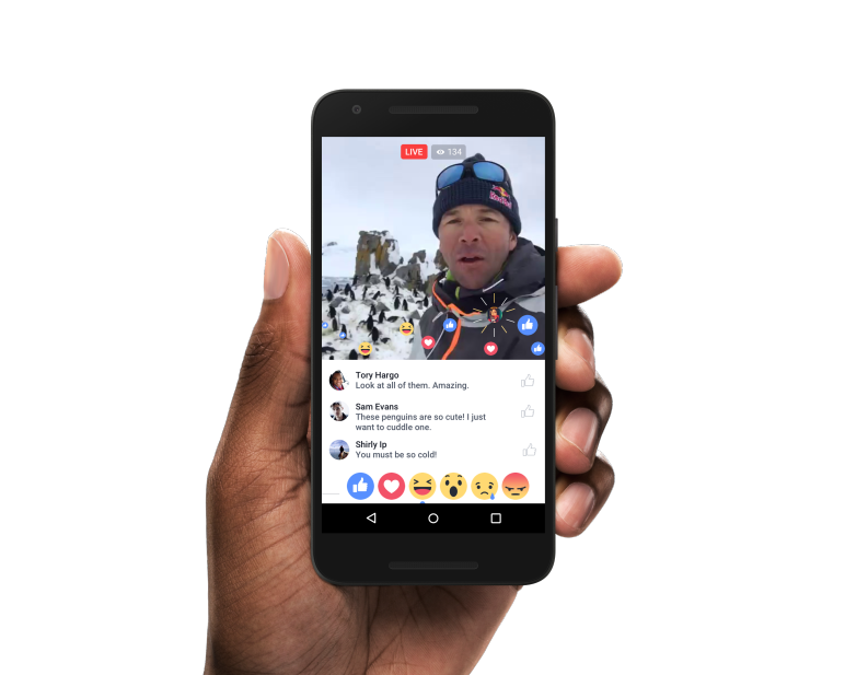 Facebook Live Reactions