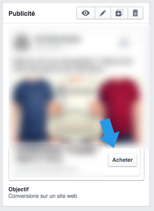 Exemple Call to Action - Facebook Ads