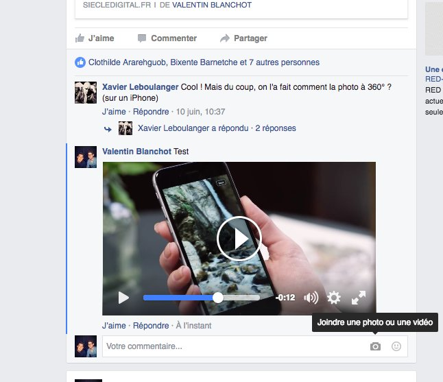 Facebook commentaire video