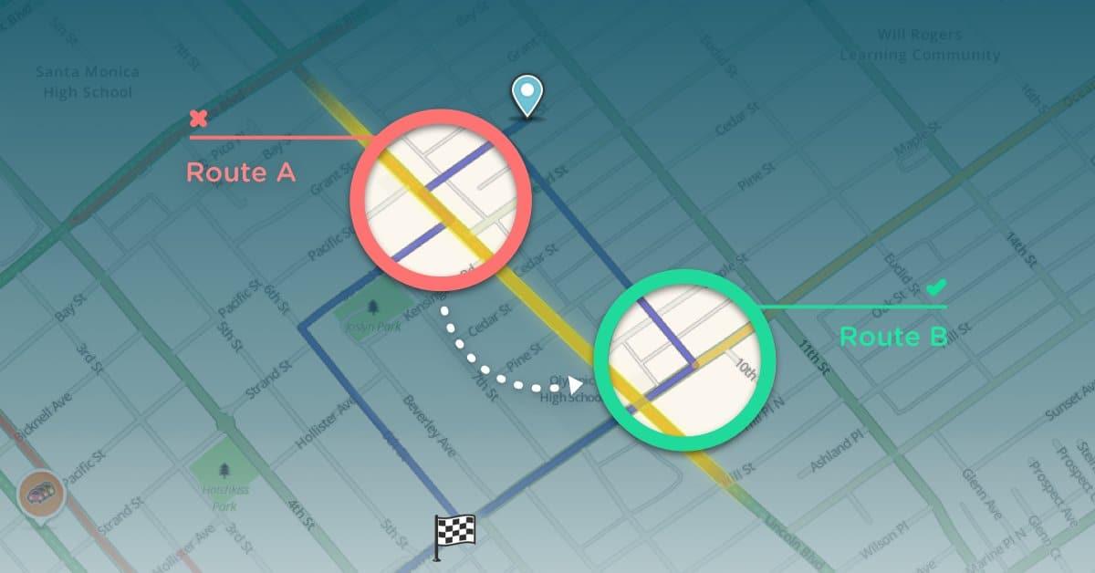 Waze intersections
