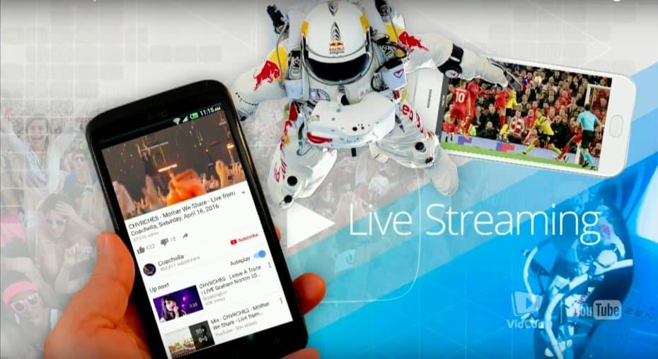 YouTube Livestreaming mobile