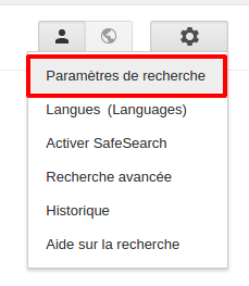 Configuration du moteur de recherche Google