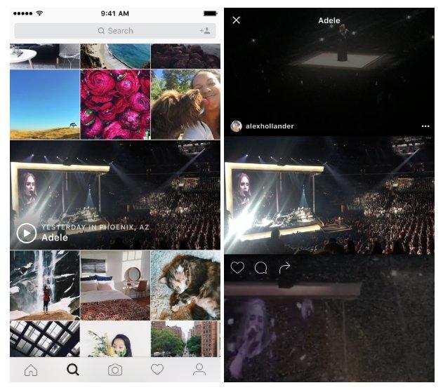 instagram événements