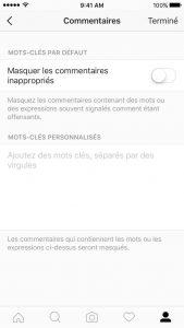 modération commentaire instagram