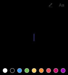 option couleurs instagram stories