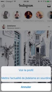 sourdine instagram stories